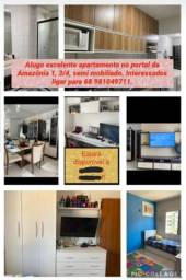 Alugo apartamento 3 quartos com uma suíte no Condomínio Portal da Amazônia 1
