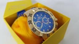 b38d974f633 Relogio Invicta Subaqua Pulseira de Borracha Azul Preta Branca Frete Gratis