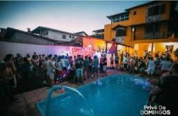 Espaço externo para festas e eventos