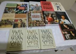 Coleções de culinária, história e filosofia