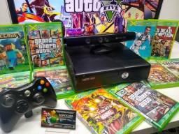 Xbox 360 completo Dêsbloqueado + Kinect + 10 jogos