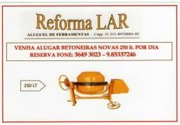 Aluguel de Betoneira 250 lt