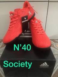 Chuteira society Adidas N 40