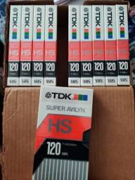 Fitas novas VHS TDK T-120HS