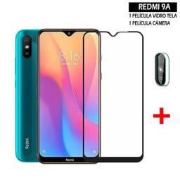 Película Vidro Xiaomi Redmi 9a + Película Câmera
