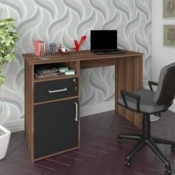 Escrivaninha Artany modelo Hall cor ipe com preto