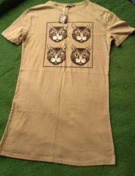 Vestido verde de gatinho