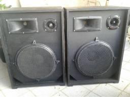 Duas caixas de som fone de 15 muito som