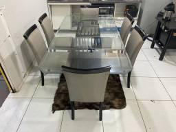 Mesa Élégance 6 Cadeiras Almofadadas ((Entrega Grátis ))