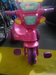 Triciclo Infantil Velobaby - Rosa -<br>Bandeirantes