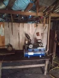 Ordenhadeira de leite para duas teteiras, com tubulações, disjuntores, fiação, etc.