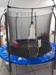 Cama elastica 2,40 mt com rede de proteção