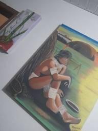 Dois lindos quadros pintados a mão