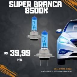 Par Lampada Super Branca  8500k Tipo Xenon 12v 55w