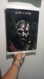 Placa decorativa God of War 4 40x30