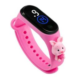 Relógio de Pulso Digital Led Touch Silicone Infantil unissex Novidade