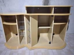 Rack/estante/bancada em MDF para TV e eletrônicos