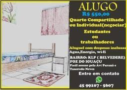 Aluguel de quarto compartilhado R$ 550,00