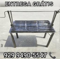 churrasqueira grande  grelha ajustavel entrega gratis ##@@