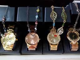 Kit relógios feminino+ brindes