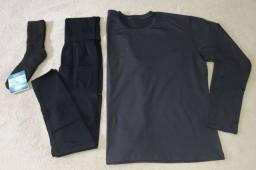 Presente dia dos Pais - Kit 3 peças Térmicas - Calça + Blusa + Meia
