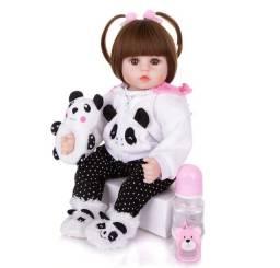 Boneca Bebê Reborn Menina Linda Panda Pandinha