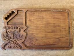 Tábua Vikings Facas em madeira Jatobá