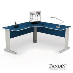 Mesas reta e em L para escritório