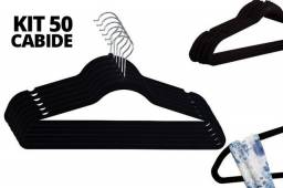 50 Cabides De Veludo Slim Ultra Finos Cabide Antideslizante