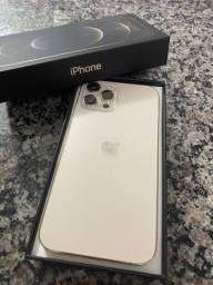 iPhone  12 prò max  128 gigas  com um ano de garantia  Apple