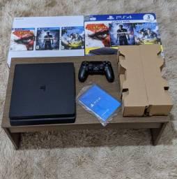 Ps4 Playstation 4 slim + Controle + 3 jogos + caixa e manual