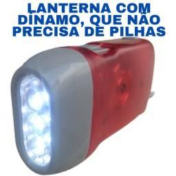 Lanterna (Não Precisa Recarregar ou Pilha) Com Dínamo
