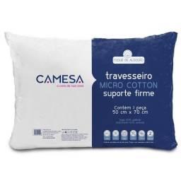 Travesseiro Micro Cotton Suporte Firme Camesa - Novo na Embalagem