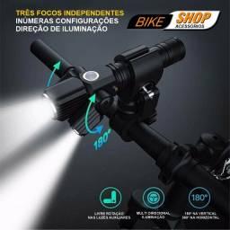Luz frontal para Bike Profissional - Recarrégável
