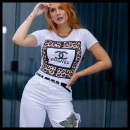 Camiseta feminina t _shirts feminina