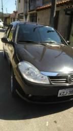 """Vendo Renault Symbol 1.6 flex preto 2011 com 4 rodas 18"""" cromada e pneus novos - 2011"""