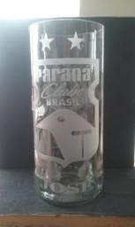 Copo de garrafa clubes personalizado jateado
