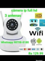 Câmera ip full hd 3 antenas Wifi