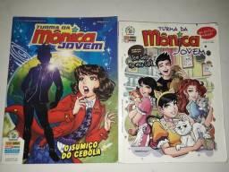 Dois livros da turma da Mônica jovem