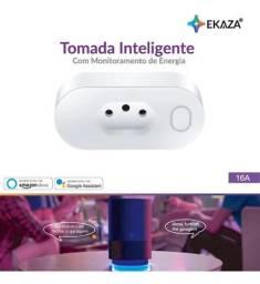 Tomada inteligente 16A com consumo de energia Smart Home Alexa Google Tuya SmartLife