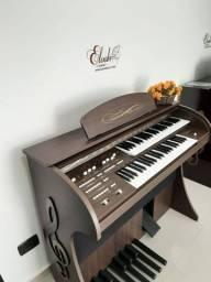Orgão Eletrônico Premium marrom fosco