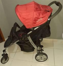 Carrinho e bebê conforto. Sou de Paranaguá