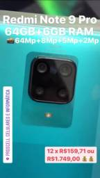 Redmi Note 9 Pro *64GB* Novos com garantia 90 dias