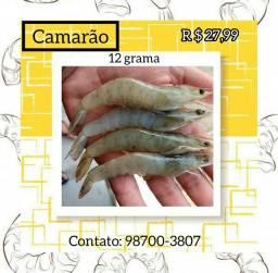 Filé de camarão e camarão