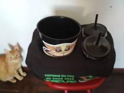 Vendo Kit almofada porta pipoca e refri Baby Yoda - Novo - Nunca usado