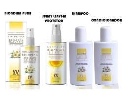 Clareador Pump Shampoo Condicionador e spray leave-in Biondina Anaconda