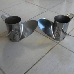 2 Hélices Mirage da Rabeta Alpha One esquerda e direita