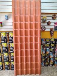 Telha estilo Colonial PVC Plan 2,42x0,88 R$:89,90