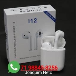 Fone de Ouvido Sem Fio I12 Bluetooth/Touchscreen (Novo).