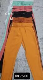Lote 6 calças alfaiataria